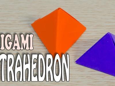 Origami Tetrahedron : Polyhedron - Regular tetrahedron paper folding