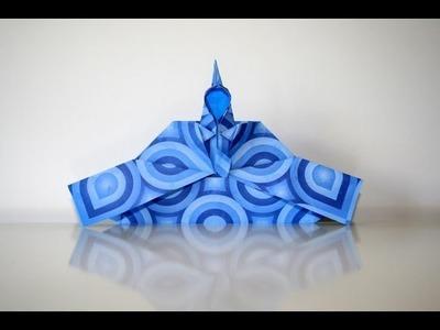 Origami tutorial - Emperor by Momotani Yoshihide