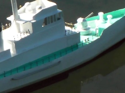 RC Ship My hand made paper craft ship One Dollar Fleet No.35 400mm long