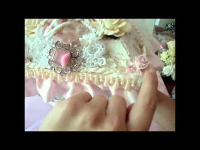 Shabby Chic.Victorian Jewelry Box