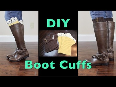 Simple DIY Boot Cuffs Using Upcycled Sweaters | MariaAntoinetteTV