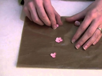 Video Tutorial creating a Card Candy flower with tacky glue by Lesley Oman from Hungry Heffy Crafts