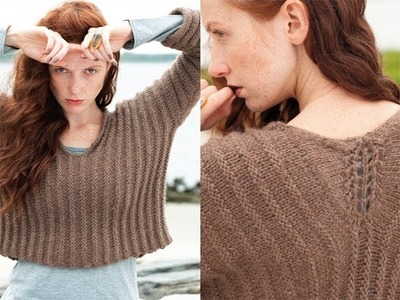 #12 Welted Pullover, Vogue Knitting Holiday 2010
