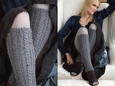 #36 Cabled Leg Warmers, Vogue Knitting Fall 2011