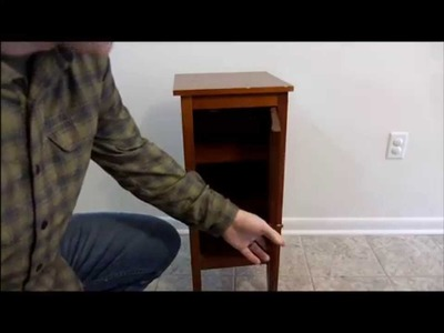 $5 DIY Hidden Compartment Night Stand