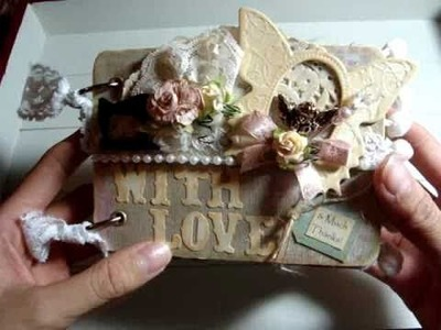 A Simple Shabby Chic Mini Scrapbook Album