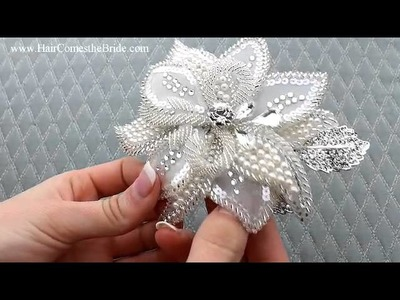 Beaded Bridal Hair Flower  from Hair Comes the Bride