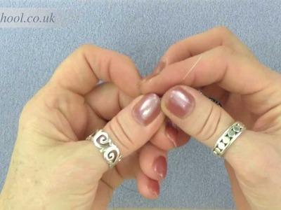 Beadschool Tutorial - Techniques: Square stitch