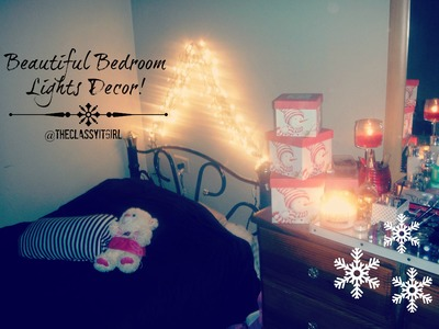 Christmas DIY Decor~Beautiful Bedroom Lights!