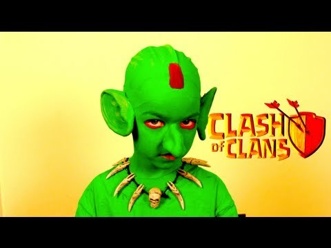 Clash of Clans Goblin Costume Makeup