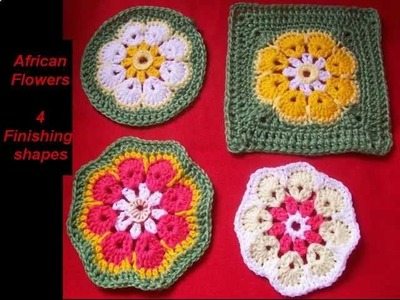 Crochet African Flowers cushions.and more