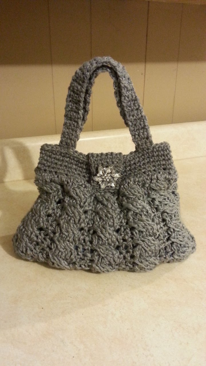 Crochet Arabel Cable Stitch Handbag Purse #TUTORIAL DIY crochet purse