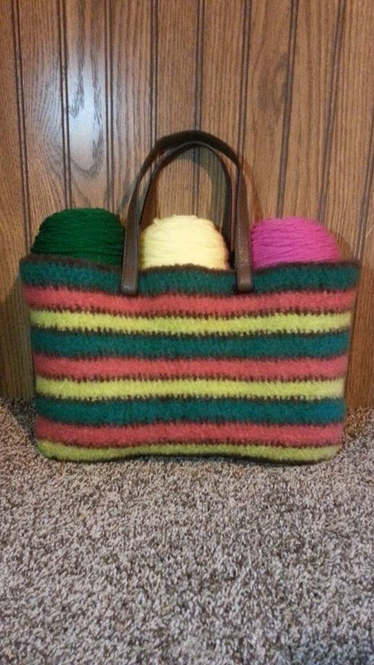 #Crochet Felted Wool Handbag Purse #TUTORIAL