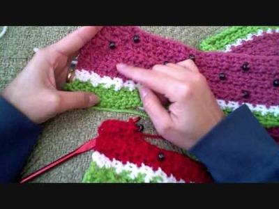 Crochet Winter Watermelon scarf part 3