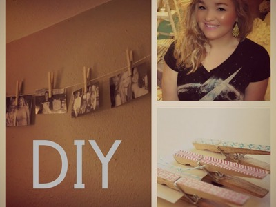 DIY Clothing Pin Photo Display (Room Decor)