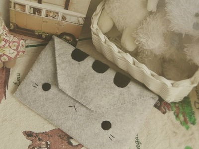 DIY FASHION: How To Sew A Pusheen Cat Wallet Tutorial