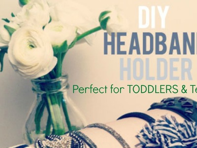 DIY Headband Holder--made from a paper towel roll