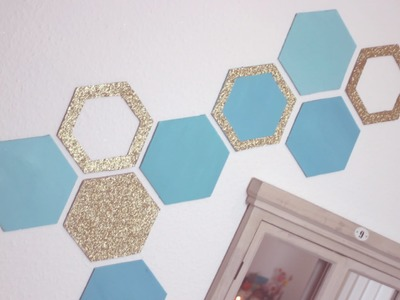 DIY: Honeycomb Wall Decor - Easy Recycling Home Decor Idea