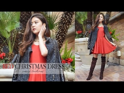 DIY Red Party Dress for Christmas