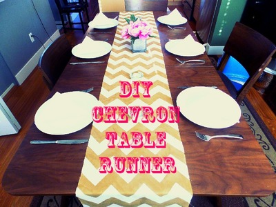 DIY Room Decor Projects: Chevron Table Runner