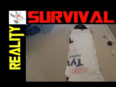DIY Survival Gear -Tyvek Sleeping Bag Bivy