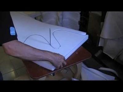 DIY upholstery foam saw