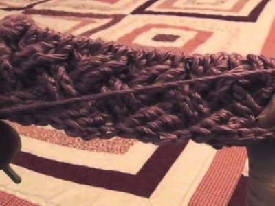 How to Crochet the Celtic Weave in the Round (left-handed)