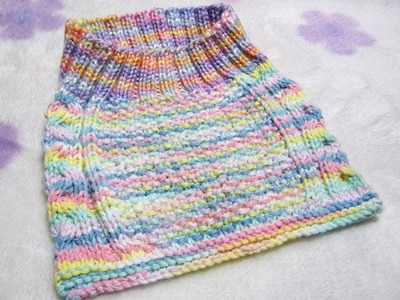 How to Knit Cable Stay-On Baby Bib Part - 2