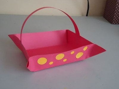 How to make a construction paper basket - EP