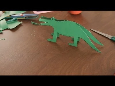 How to Make a Paper Crocodile : Paper Art Projects