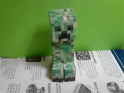 How to make a papercraft creeper !!