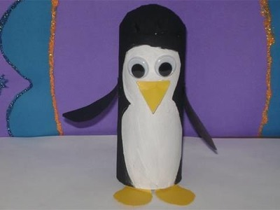 How to make a toilet paper tube penguin (white face) - EP
