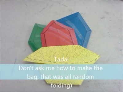 How to Make an Origami Zelda Rupee