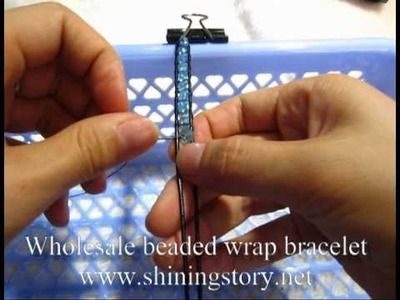 How to make chan luu beaded leather wrap bracelets. best friend bracelets -  DIY guide
