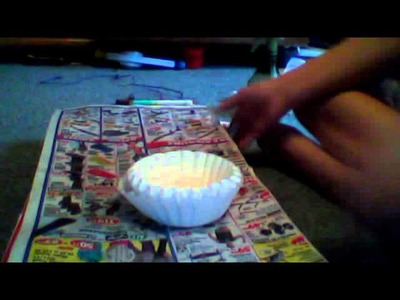 How to make coffee filter crafts