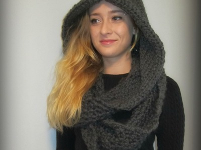 Knitted Hooded Cowl - Oversized and Slouchy