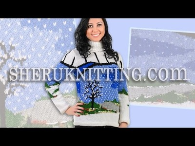 Knitting  Jacquard  Sweater  Model 13 Free Patterns