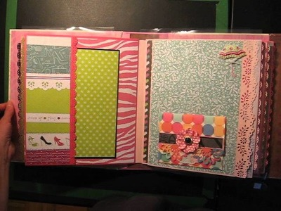 Large Purse Scrapbook Mini Album