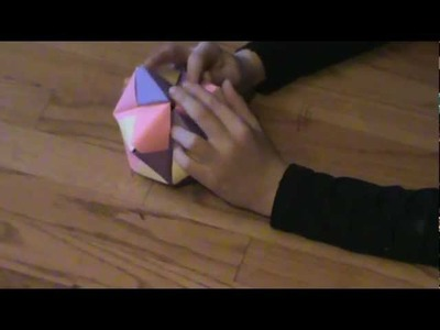 Origami sonobe ball (12 units)