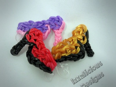 Rainbow Loom High Heel.Glass Shoe Charm Tutorial