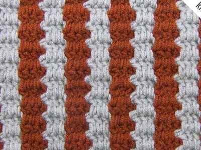 The Two Color Interlocking Block Stitch :: Crochet Stitch #339 :: Right Handed