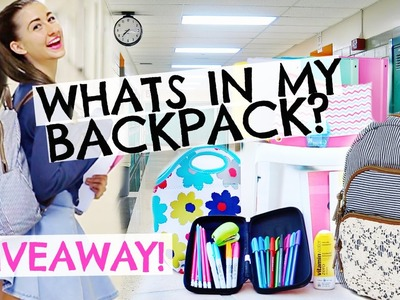 What's In My Backpack!