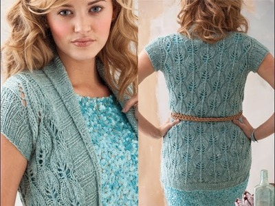 #28 Lace Cardi, Vogue Knitting Spring.Summer 2011