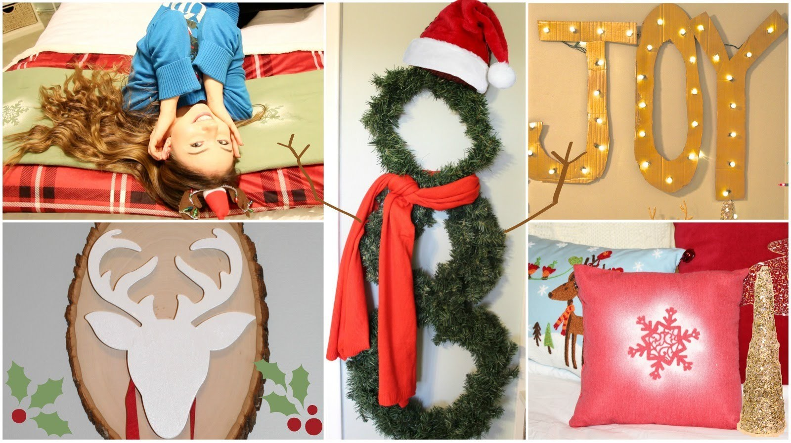 9 DIY Holiday.Winter Room Decorations + Gift Ideas!