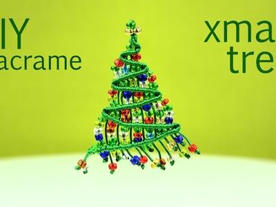 Beaded Macrame Christmas Tree - Tutorial