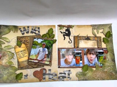 BO BUNNY Zoo Scrapbooking 12x24 Double Page Layout