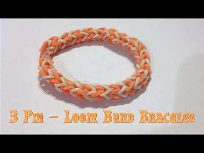DIY 3 Pin Simple Weave Loom Band Bracelet - Using Homemade Loom