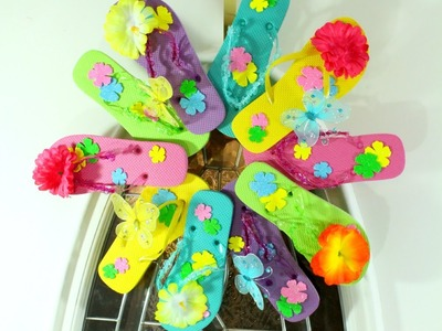 DIY:  DOLLAR TREE FLIP FLOP SUMMER WREATH