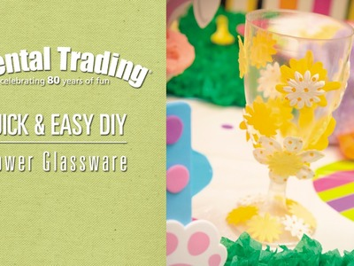 DIY Easter Flower Glassware