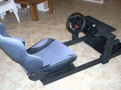 DIY Gran Turismo Logitech steering wheel stand. cockpit racing rig. Part 2